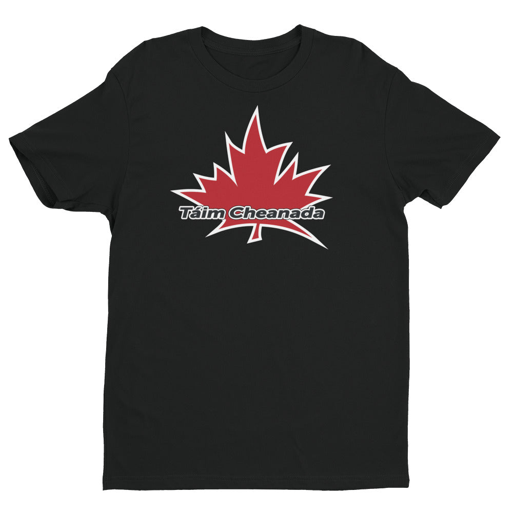 I Am Canadian' 'Táim Cheanada' - Premium Fitted Short Sleeve Crew (Irish), Shirt, I Am Canadian - MerchHeaven.com