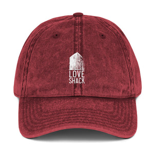 Love Shack Libations - White Embroidered - Vintage Cotton Twill Otto Cap, Hat, Love Shack Libations - MerchHeaven.com