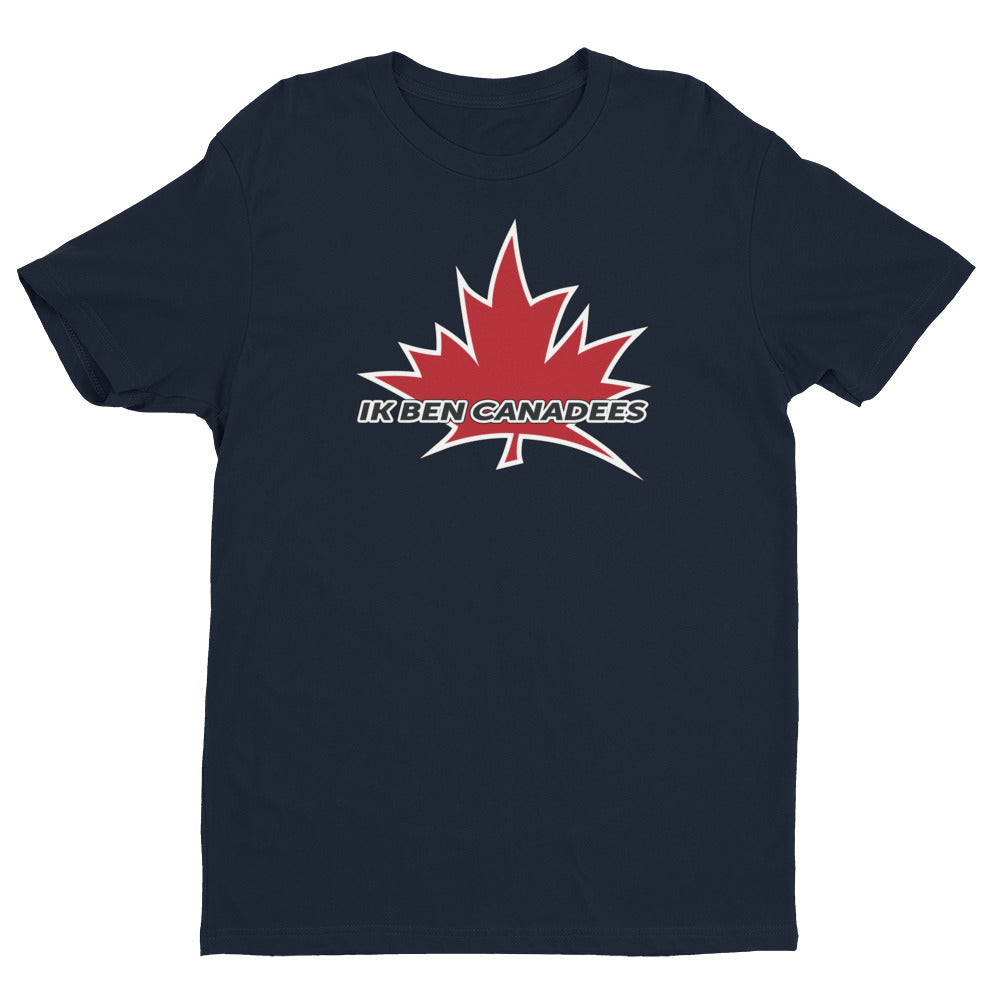 I Am Canadian' 'ik ben Canadees' - Premium Fitted Short Sleeve Crew (Dutch), Shirt, I Am Canadian - MerchHeaven.com