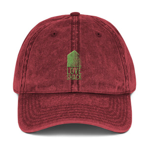 Love Shack Libations - Green Embroidered - Vintage Cotton Twill Otto Cap, Hat, Love Shack Libations - MerchHeaven.com