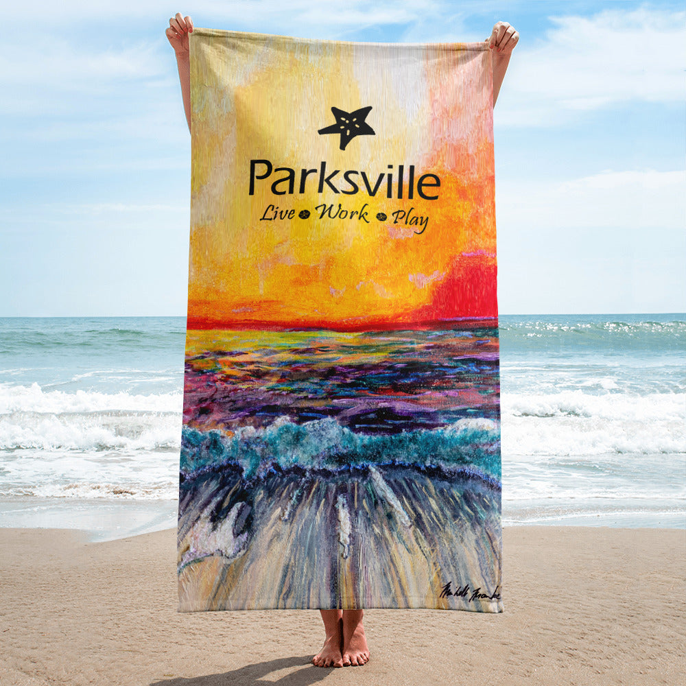 Parksville Beach Towel, Towel, Parksville & District Chamber of Commerce and Visitor Centre - MerchHeaven.com