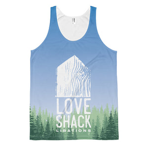 Love Shack Libations - Forest Green with Blue Sky - Classic fit tank top, Shirt, Love Shack Libations - MerchHeaven.com
