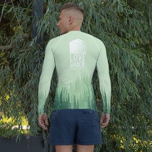 Love Shack Libations - Green Trees - Men's Technical Rash Guard with UV protection, Shirt, Love Shack Libations - MerchHeaven.com