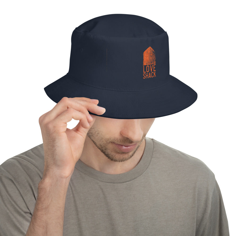 Love Shack Libations - Orange Embroidered Bucket Hat, Hat, Love Shack Libations - MerchHeaven.com