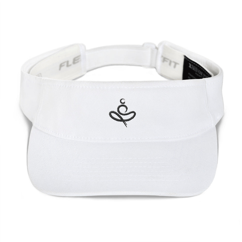 Yoga on the Beach (YOTB) Visor - Black Embroidery, Visor, YOGA on the Beach - MerchHeaven.com