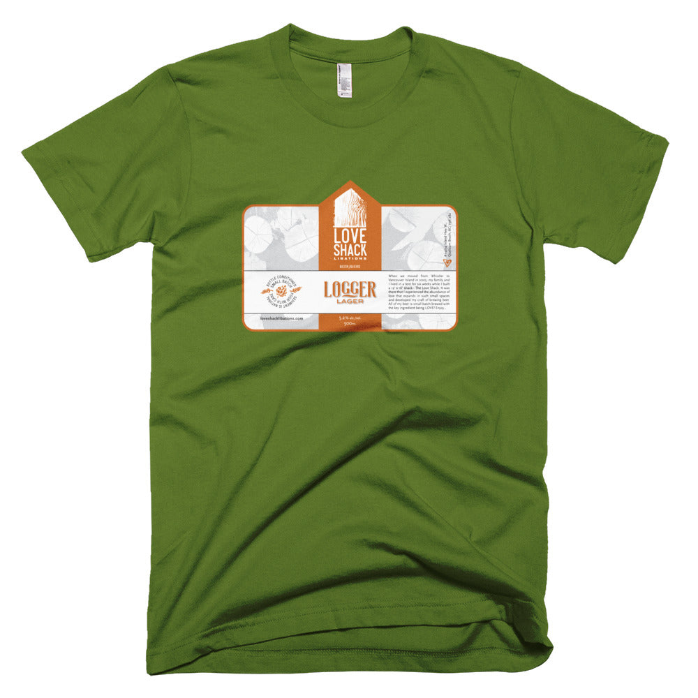 Shirt - Love Shack Libations - Olive / XS - MerchHeaven.com merchandise and Branding