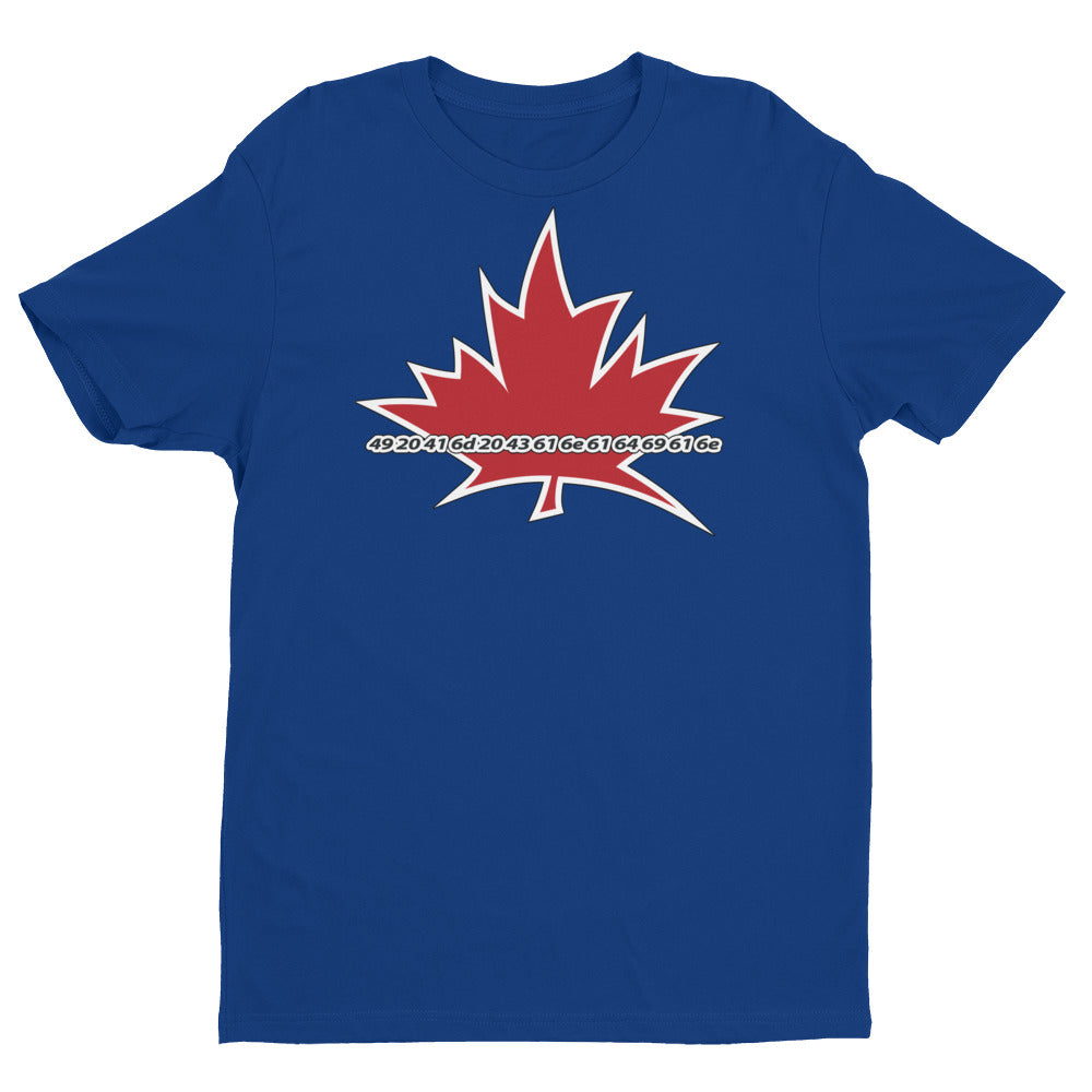 I Am Canadian' in Hexadecimal Language - Premium Fitted Short Sleeve Crew, Shirt, I Am Canadian - MerchHeaven.com