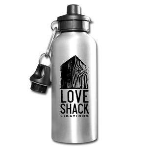 Love Shack Libations - Black Logo Water Bottle, Water Bottle, Love Shack Libations - MerchHeaven.com