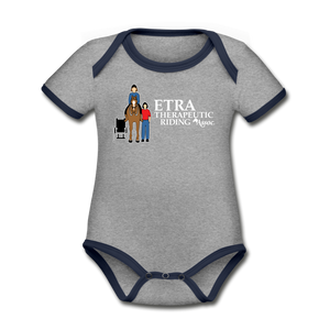 ETRA Therapeutic Riding Association - Baby - Organic Contrast Short Sleeve Bodysuit, Baby Bodysuit, ETRA - MerchHeaven.com