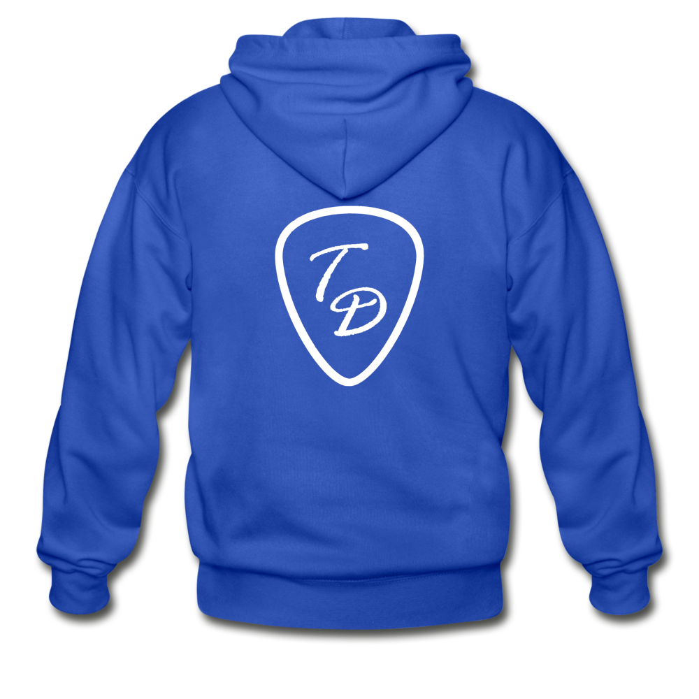 Travis Dolter - Gildan Heavy Blend Adult Zip Hoodie - royal blue