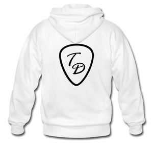 Travis Dolter - Black Logo - Gildan Heavy Blend Adult Zip Hoodie, Hoodie, Travis Dolter Music - MerchHeaven.com