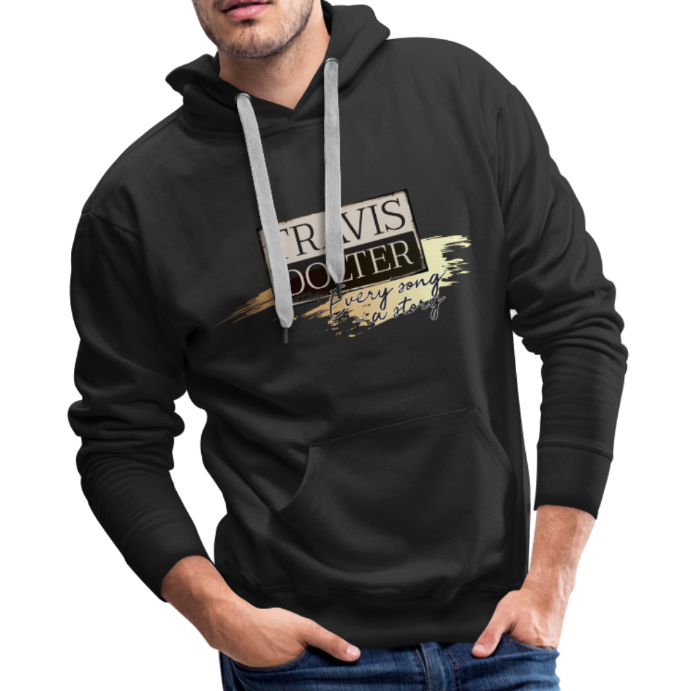Travis Dolter - Every song a story - Men's Premium Hoodie - black