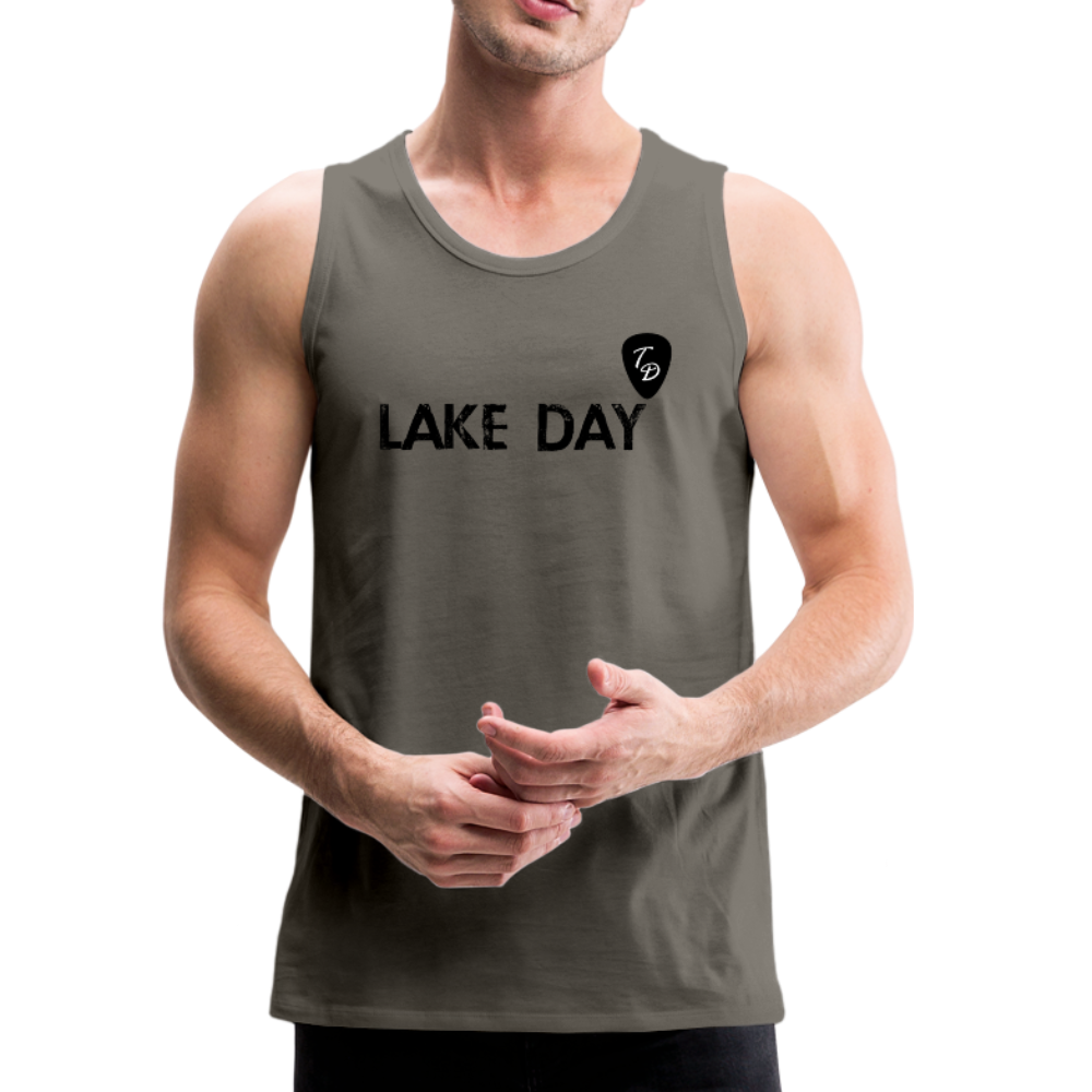 Travis Dolter - Lake Day - Men's Premium Tank Top - asphalt gray