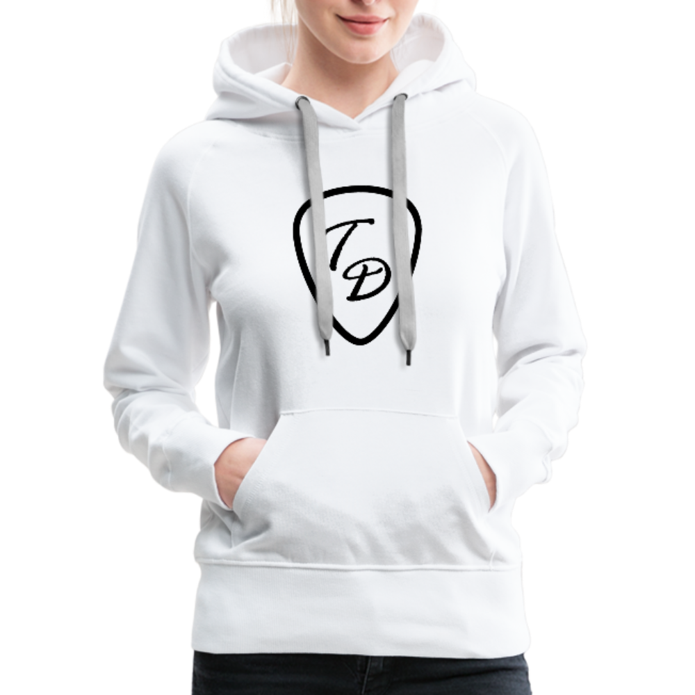 Travis Dolter - Guitar Pick - Women's Premium Hoodie - white