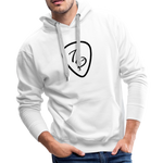 Travis Dolter - Guitar Pick - Men's Premium Hoodie - White, Hoodie, Travis Dolter Music - MerchHeaven.com