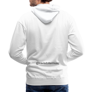 Travis Dolter - Guitar Pick - White Men's Premium Hoodie - white