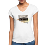 Travis Dolter - Every song a story - Women's Tri-Blend V-Neck T-Shirt - white