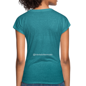 Travis Dolter - Every song a story - Women's Tri-Blend V-Neck T-Shirt, Women's Tri-Blend V-Neck T-Shirt, Travis Dolter Music - MerchHeaven.com
