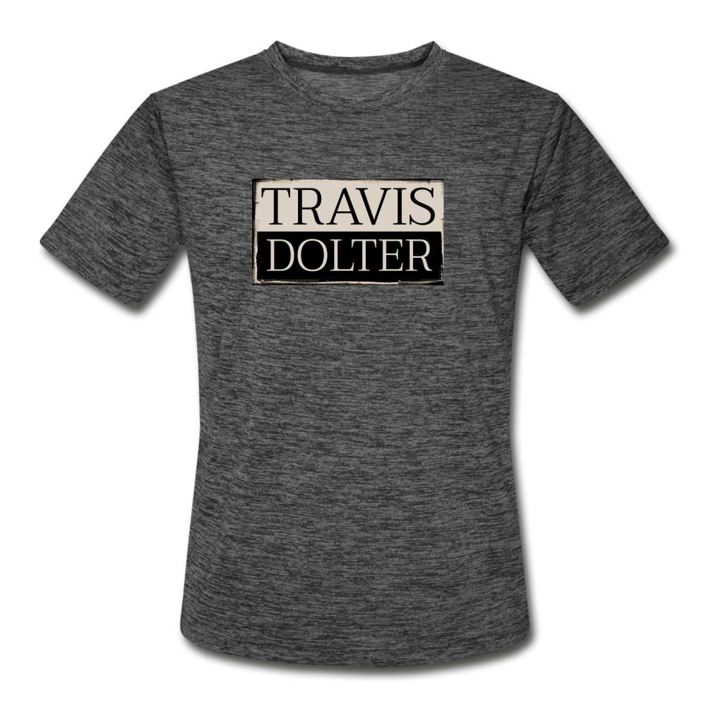 Travis Dolter - Men's Moisture Wicking Performance T-Shirt - dark heather gray