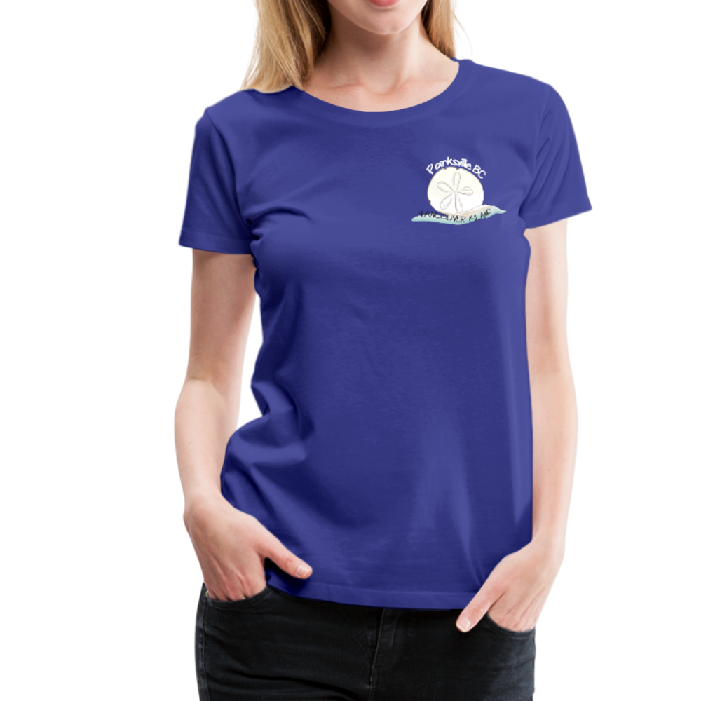 Parksville Visitor Centre - Women's Premium T-Shirt - royal blue