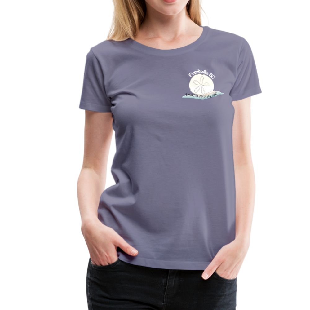 Parksville Visitor Centre - Women's Premium T-Shirt - washed violet