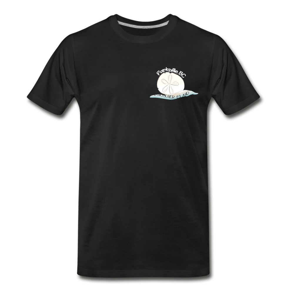 Parksville Visitor Centre - Sand Dollar Men's Premium T-Shirt - black