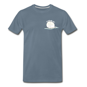 Parksville Visitor Centre - Sand Dollar Men's Premium T-Shirt - steel blue