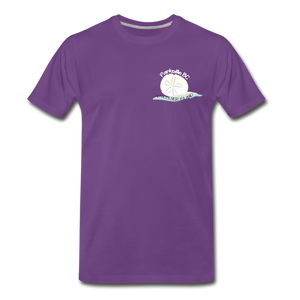Parksville Visitor Centre - Sand Dollar Men's Premium T-Shirt - purple