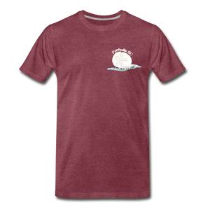 Parksville Visitor Centre - Sand Dollar Men's Premium T-Shirt - heather burgundy