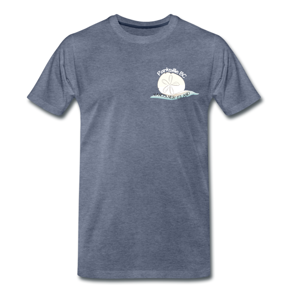 Parksville Visitor Centre - Sand Dollar Men's Premium T-Shirt - heather blue