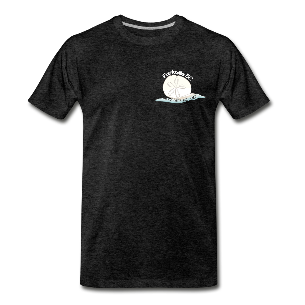 Parksville Visitor Centre - Sand Dollar Men's Premium T-Shirt - charcoal gray