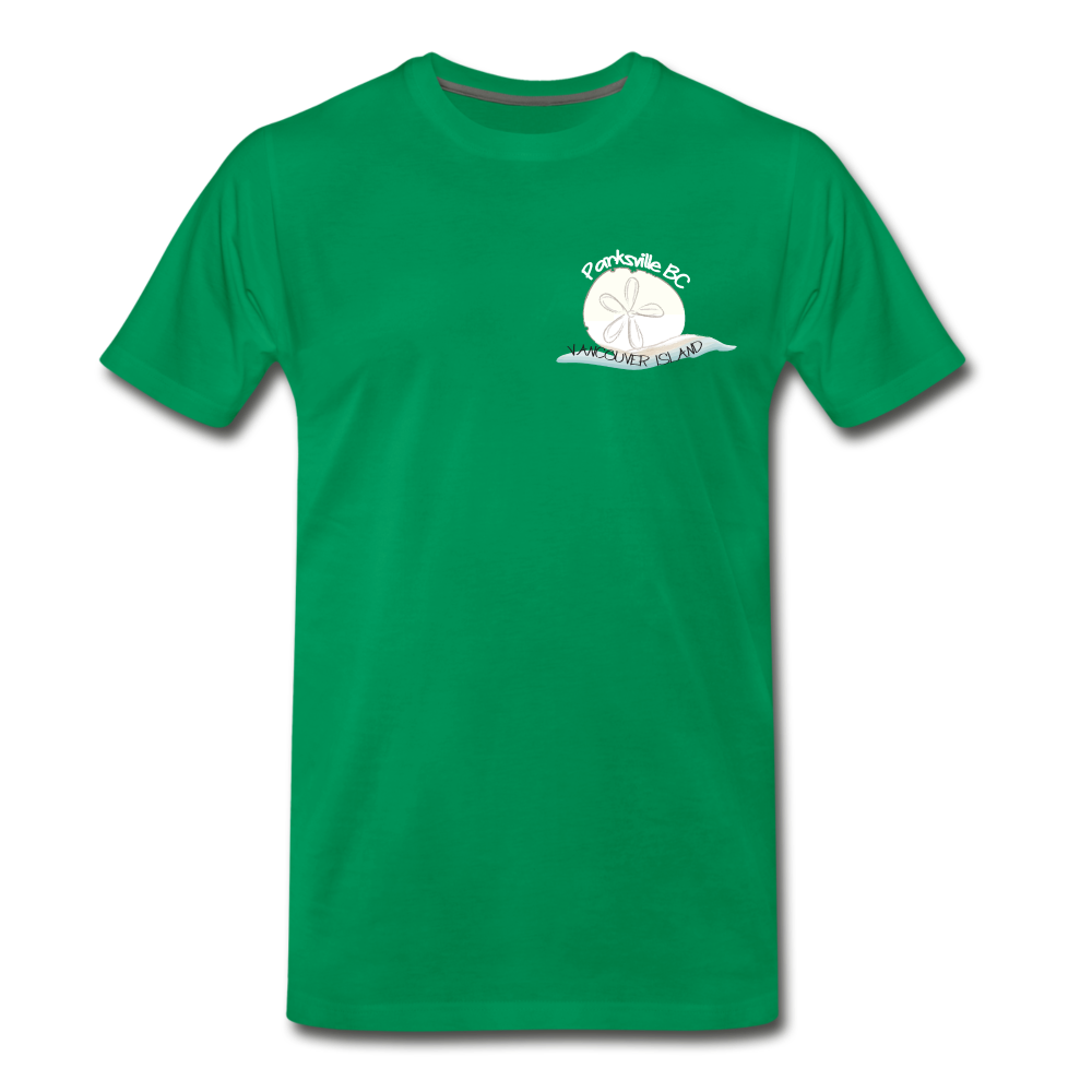 Parksville Visitor Centre - Sand Dollar Men's Premium T-Shirt - kelly green