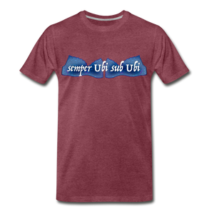 semper Ubi sub Ubi - T-Shirt - heather burgundy