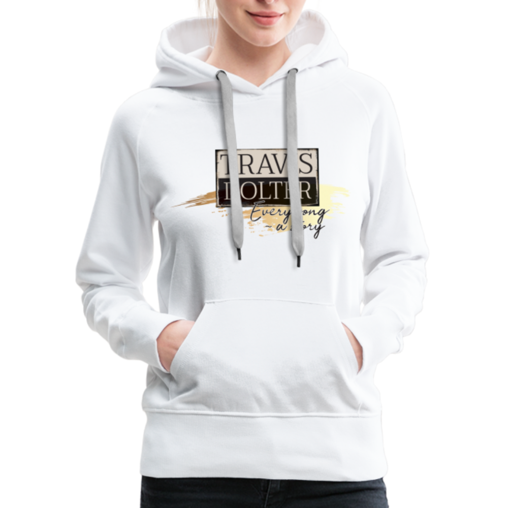 Travis Dolter - Every song a story - Women's Premium Hoodie - white