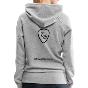 Travis Dolter - Every song a story - Women's Premium Hoodie - heather gray