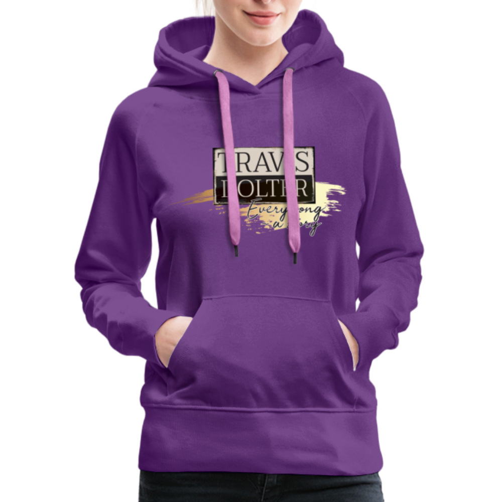 Travis Dolter - Every song a story - Women's Premium Hoodie - purple
