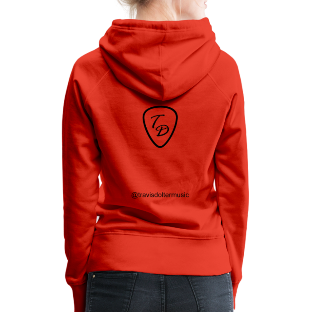 Travis Dolter - Every song a story - Women's Premium Hoodie - red