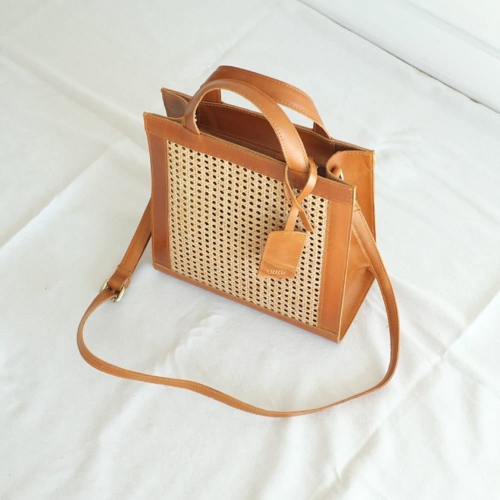 SIA 2 Way Tote - Tan MD