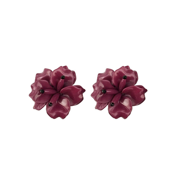 FLEUR Earrings - Plum