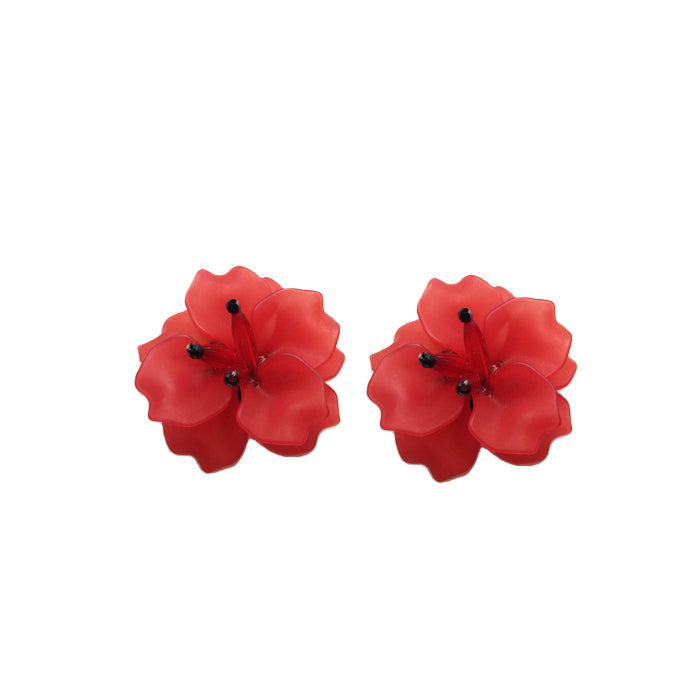 FLEUR Earrings - Red