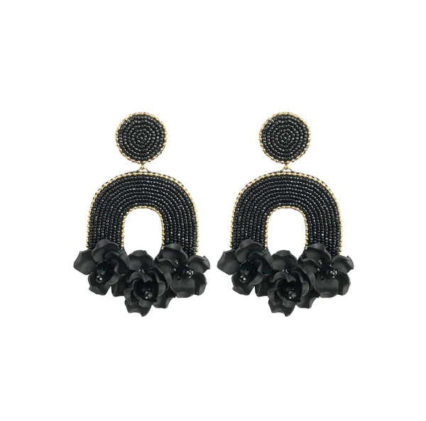 FLORABELLE Earrings - Black