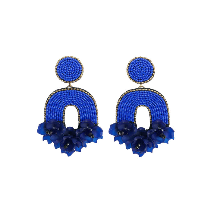 FLORABELLE Earrings - Blue MD