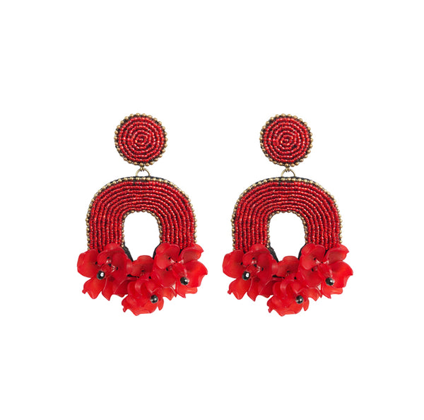 FLORABELLE Earrings - Red