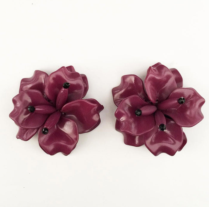FLEUR Earrings - Plum MD