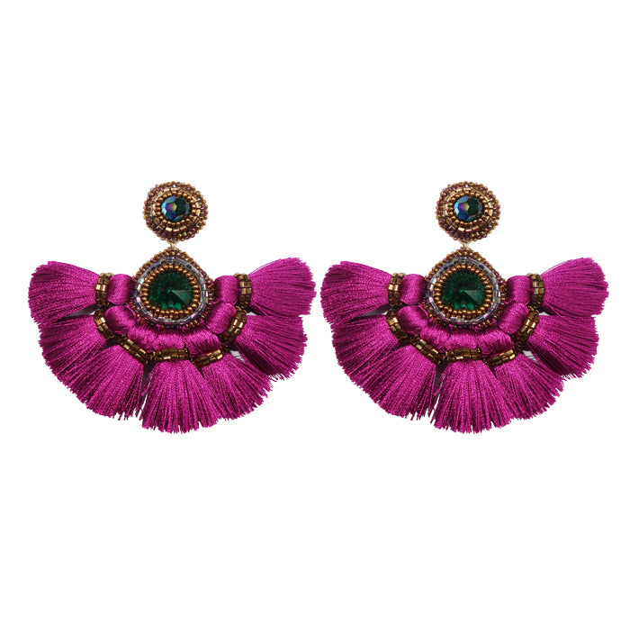 FIESTA Earrings - Fuschia