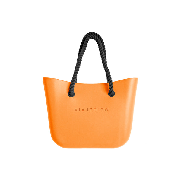VIAJECITO Tote - Orange Black