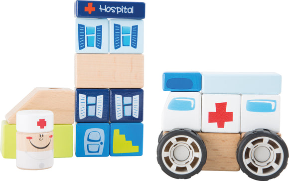 Ambulance wooden construction set