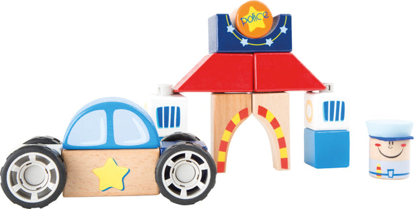 Police wooden construction set