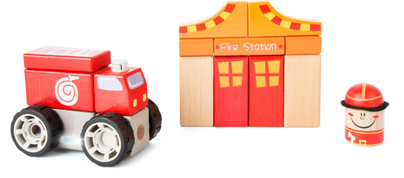 Fire Brigade Construction Set with Sound