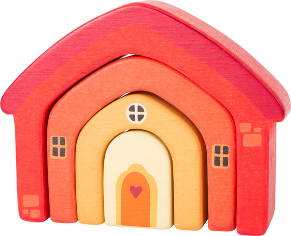 House Wooden Building Blocks